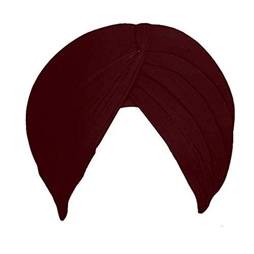 Sikh Cotton Turban for Men |Mahogany Color | 8 MTS Unstitched Double Punjabi Pagri