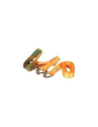 Perel arat4 Sangle avec tendeur à cliquet et crochet, charge maximum : 500 kg, 4.5 m x 25 mm Dimensions