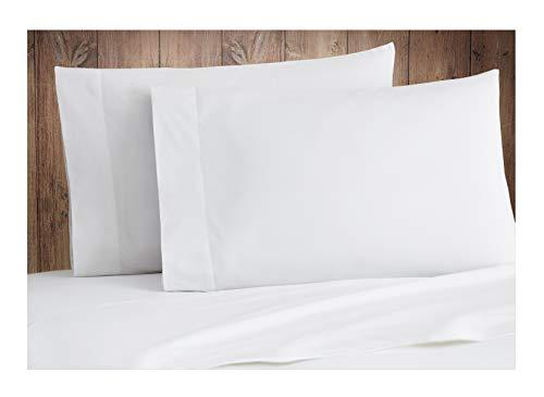 King Pillow Cases - Organic Cotton Pillowcases Set – 500TC King / California King Size Ultra White Color – 2 Piece Set - 100% GOTS Certified Extra Long Staple, Soft Sateen Weave - 4' Hem -Luxurious