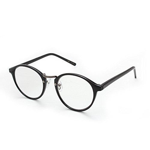 RESA レサ 老眼鏡に見えない 40代からのスマホ老眼鏡 丸メガネタイプ ブラック RS-09-2 +1.50