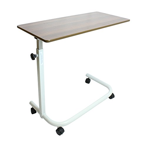 NRS gezondheidszorg in hoogte verstelbaar boven bed tafel DONKERBRUIN