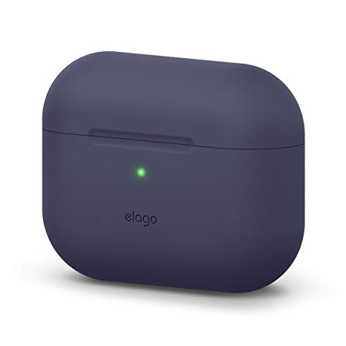 elago Original Case Compatible with Apple AirPods Pro Case - Protective Silicone Cover, Anti-Slip Coating, Precise Cutout, Supports Wireless Charging (Jean Indigo)
