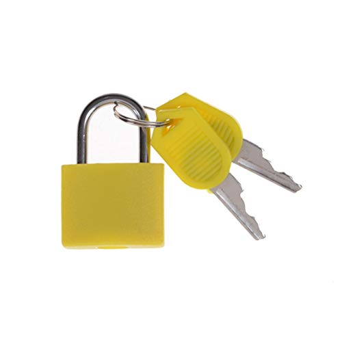 ZAOPP 6 Colors Small Mini Strong Steel Padlock Travel Tiny Suitcase Lock With 2 Keys (Color : 1)
