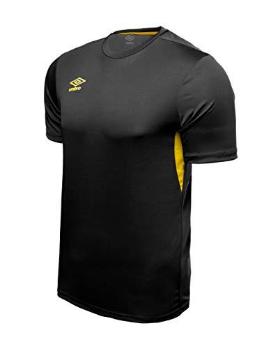 UMBRO Core Training Jersey Camiseta De Fútbol, Niños, Negro, 8/10