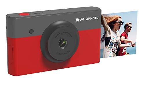 Agfa Photo Realipix Mini S Digitalkamera, Sofortbilddruck, 10 MP, Bluetooth, 5, 3 x 8, 6 cm, Rot AMS23RD