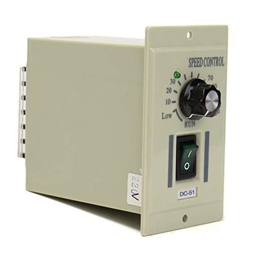 Motordrehzahlregler – AC 220 V 50 Hz Drehzahlregler für Gleichstrom 0-500 W Motor, Ausgang DC 0-220 V, schwarz