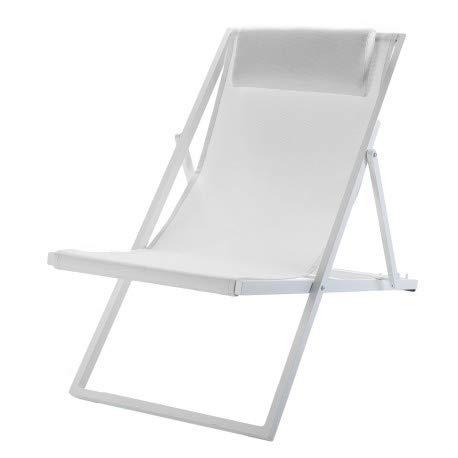 Lote DE 4 x Tumbona Plegable Regulable de Aluminio y textilene sho1032087-DESKandSIT-