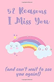 52 Reasons I Miss You (and can't wait to see you again!): Missing You Journal to Fill In Yourself | Cute Miss You Gift for...