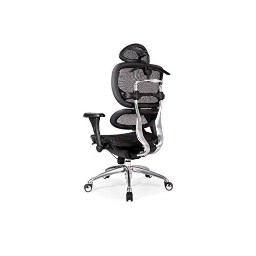 Sebasty Silla ergonómica para ordenador, silla de oficina en casa, reclinable, silla de malla elevada, silla de moda Boss Happy Day (color: negro) (color gris)