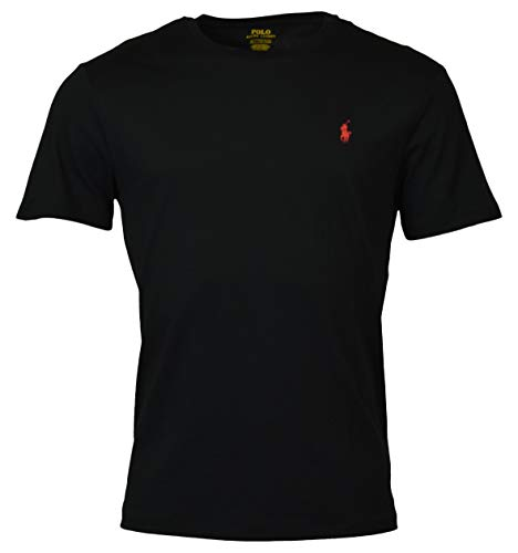 Polo Ralph Lauren Men's Pony Logo Crew Neck T-Shirt, Rl Black, Large