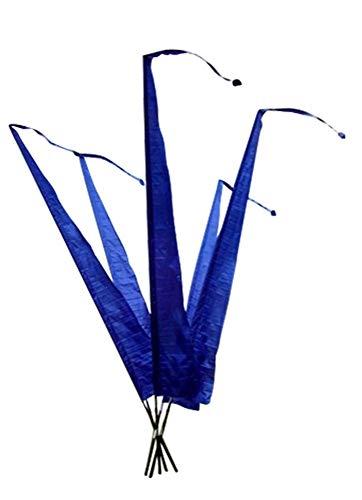 DEKOVALENZ - Gartenfahnen-Stoff DENPASAR mit Herz-Spitze, versch. Farben+Längen, Farbe:blau, Fahnenlänge:3 Meter