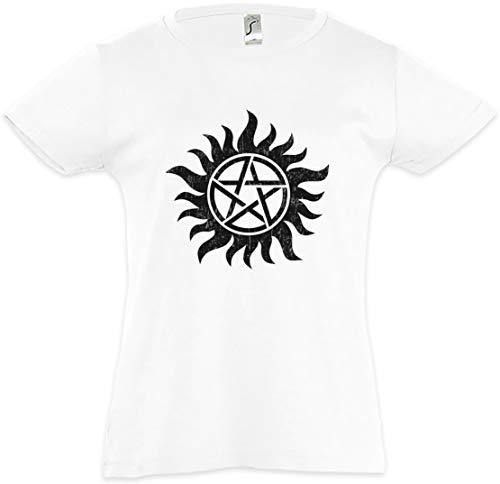 Urban Backwoods Anti Possession Symbol Mädchen Kinder Kids T-Shirt Weiß Größe 12 Jahre