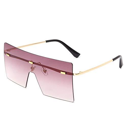 WQZYY&ASDCD Gafas de Sol Gafas De Sol Cuadradas para Mujer, para Hombre, Gafas De Sol para Mujer, Gafas, Lentes Transparentes, Uv400, Sombra, Moda, Conducción Al Aire Libre, Púrpura
