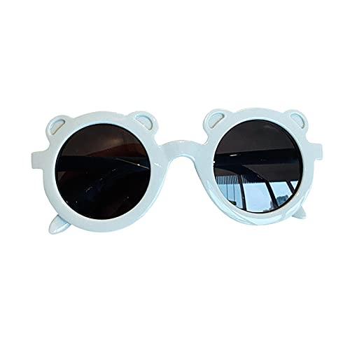 libelyef Gafas de sol para niños, lindo oso de dibujos animados, gafas de sol para bebé, UV400, gafas de protección para niños y bebés de 2 a 8 años de edad