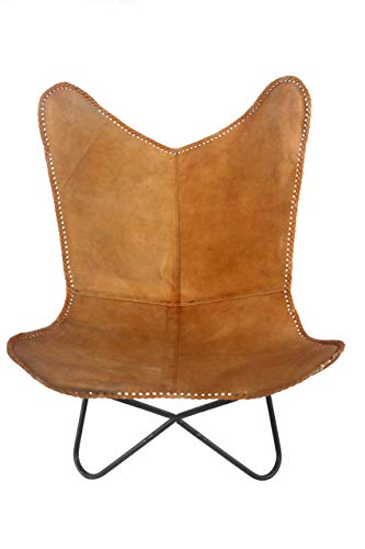 Classic Genuine Leather Arm Chair Cover Star Butterfly Leather Chair Home Decor - Only Cover