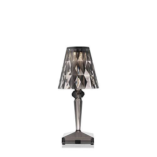 Kartell Battery lámpara de mesa portátil y recargable transparente ahumado