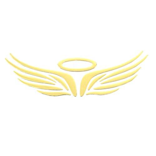 RETYLY 3D Chrom Engels-Fluegel Aufkleber Abziehbild Auto Wagen Emblem Abziehbild Dekoration Farbe golden