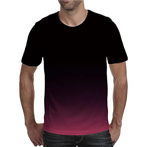SSBZYES Camiseta para Hombre Camiseta De Manga Corta De Verano De Talla Grande Camiseta Estampada con Cuello Redondo Camiseta De Moda Informal De Manga Corta Suelta Y Transpirable para Parejas