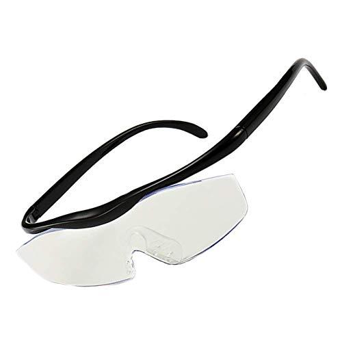 VKFX Lesebrille Lupenbrille Kopflupe,1.6X Linsen – Kopfbandlupe Stirnlupe Brillenlupe mit Beleuchtung für Brillenträger,Alter Mann Lesen,Handwerk,Juweliere,Nähen,Elektro und Reparatur Hobby Geschenk