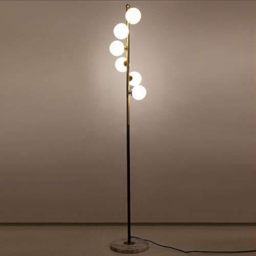 Staande lamp creatieve woonkamer slaapkamer marmer vloerlamp glazen bol lampenkap afdekking LED bedlampje