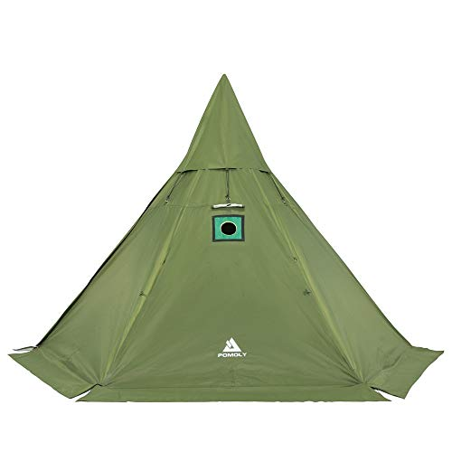 Pomoly HEX Hot Tent Camping Tipi with Stove Jack 4 Season Waterproof...