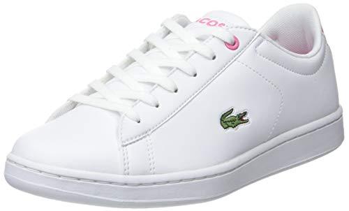 Lacoste Carnaby EVO BL 2 SUJ, Zapatillas Unisex Adulto, B53 White/Pink, 37 EU