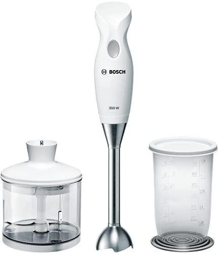Bosch Elettrodomestici MSM6B500 CleverMixx Mixer a Immersione, 350 W, 1 Liter, 1 Decibel, plastica, Bianco