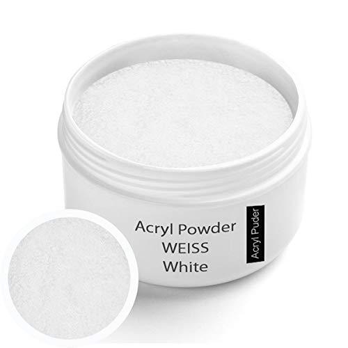 Acryl Pulver weiß - weiss 30g