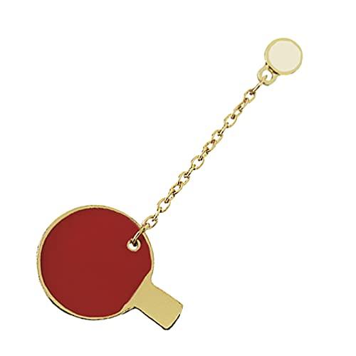 Happyyami - Pong Brosche Mode Cartoon Emaille Brosche Pin Persönlichkeit Breastpin Badminton Revers Pin Rucksäcke Jacke Abzeichen für Kind Frauen Kleidung Dekoration