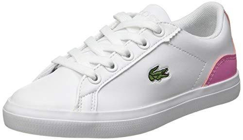 Lacoste Jungen Unisex Kinder Lerond 0120 1 Cuc Sneaker, Weiß Wht Lt Pnk, 28 EU