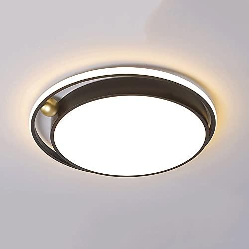 Wmdtr Lámpara de Techo Redonda Metal + diseño de acrílico Luz de Techo Luz de Encendido Interior, lámparas de Techo de atenuación Continua con Luces LED de Control Remoto para Pasillo de Entrada