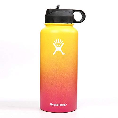 WENSISTAR Sport Wasserflasche ,Vacuum Stainless Steel Vacuum Flask, Large-Capacity Sports Bottle, Gradient car Water Cup@B_40oz,Edelstahl Wasserflasche