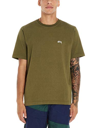 Stussy Luxury Fashion Herren 1140137OLIVE Grün Baumwolle T-Shirt | Herbst Winter 19