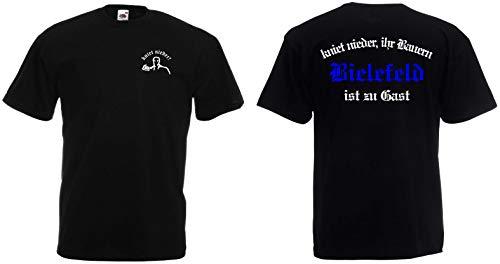 Bielefeld Herren T-Shirt kniet nieder Ihr Bauern