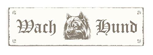SCHILD Dekoschild « WACH HUND - EURASIER » Shabby Vintage Holzschild Türschild Dekoration Warnschild