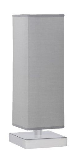 Trio-Leuchten 5914011-42 Tischleuchte Touch ME 1xE14 max. 60W Nickel matt Stoffschirm grau
