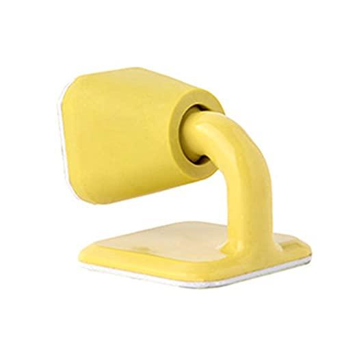 XLEVE Puerta de Silicona Tapón para Tope de Pecho Anti colisión Puerta para Parachoques Puerta de Goma Dorada Cuña Cinta de Doble Cara Etiqueta engomada Oculta (Color : Yellow)