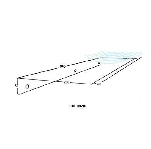 vecamco Clima Plus–Deflettore per unità interna aria 900x 300x 30mm