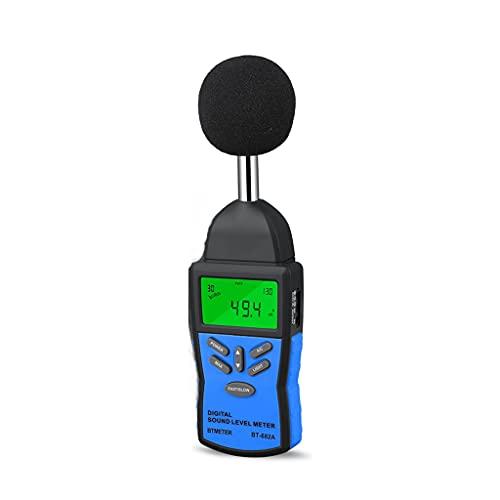 ZZHJYD BGWWG Medidor de Nivel de Sonido Digital,Instrumento de medición de Volumen de Ruido Probador de monitoreo de decibelios con Prueba de Volumen de Audio de Ruido de 30-130dB