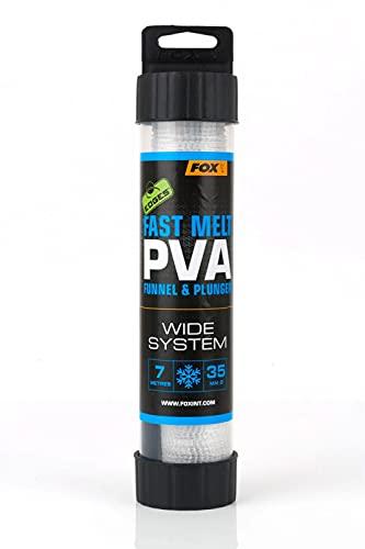 FOX Edges PVA Mesh System Fast melt 7m - PVA-Schlauch zum Karpfenangeln & Friedfischangeln, wasserlösliches Netz zum Anfüttern, Größe:35mm Wide