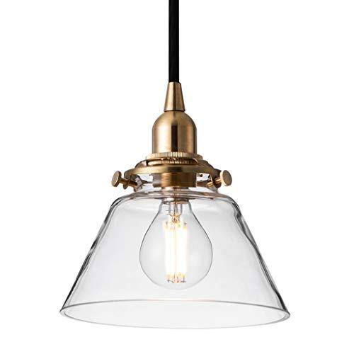 Moderno Lámparas de araña Cafe Sencilla Escalera de luz Cobre lámpara de Cristal de una Sola Cabeza Pasillo Anterior lámpara de la lámpara Iluminación Colgante