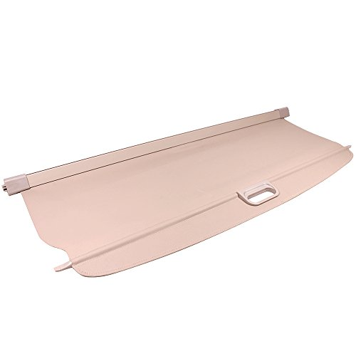 Cargo Cover Compatible With 2006-2011 Benz ML Class, Beige PU Tonneau Cover Retractable By IKON MOTORSPORTS, 2007 2008 2009 2010