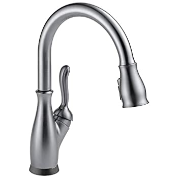 DELTA Faucet Leland Single-Handle Touch Kitchen Sink Faucet with Pull Down Sprayer Touch2O and ShieldSpray Technology Magnetic Docking Spray Head Arctic Stainless 9178T-AR-DST