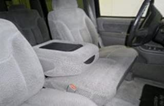Durafit Seat Covers C976 Gray.Chevy Silverado, Tahoe and GMC Sierra Front 60/40 Split Seat with Opening Center Console in Gray Velour