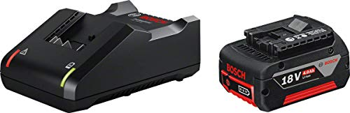 Bosch Professional GAL 18V-40 + GBA 18V Starterset Cargador + batería de litio, 1 batería x 4.0 Ah, 18 V