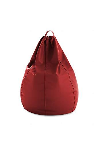 Textil-home Sitzsack XXL Pouf - 90X90X130 cm- Farbe Rot, PVC Stoff - hoher Widerstand - Doppelter Rückprall - (Inklusive Polystyrolkugeln Füllung)
