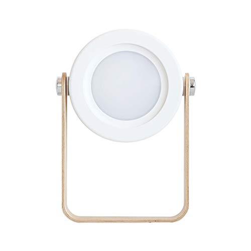 Nikunty Lámpara de mesa de carga noche Ed mango de madera creativo lámpara linterna portátil plegable telescópica la lámpara de lectura
