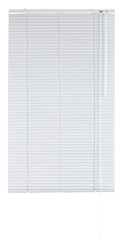 Blindecor 2101 Tenda Veneziana in Alluminio, Metallo, Bianco, 100X250