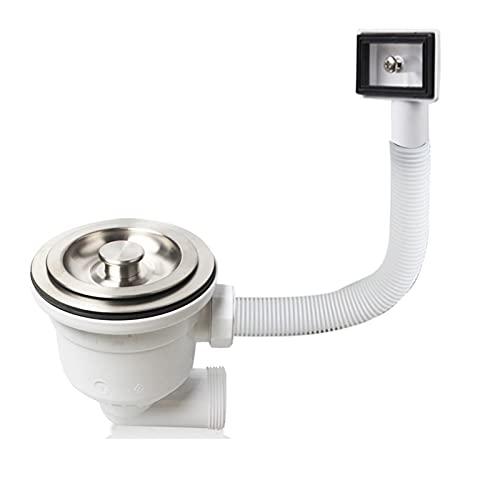 durable Deluxe 304 Deodorización de acero inoxidable Desodorización del fregadero Filtro de drenaje de colador con tapón de residuos de lavamanos de desbordamiento XK327C001 Wearable ( Color : 114mm )