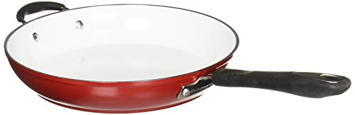 Cuisinart 5922-30HR Elements Open Skillet with Helper Handle, 12-Inch, Red